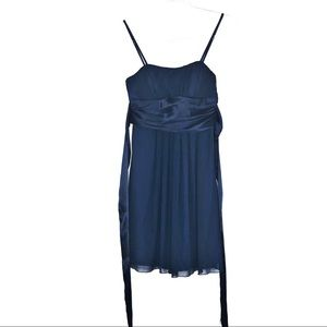 3/$25 [SM] Blue Mini Chiffon Formal Dress